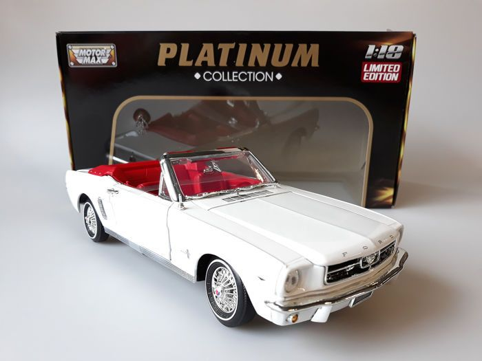 Motormax - 1:18 - Ford Mustang 1964 1/2  - Platinum-collectie - Limited Edition