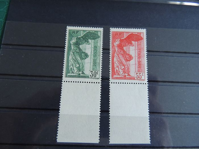 France 1937 - Pair of Winged Victory of Samothrace - Yvert 354/55  / MNH