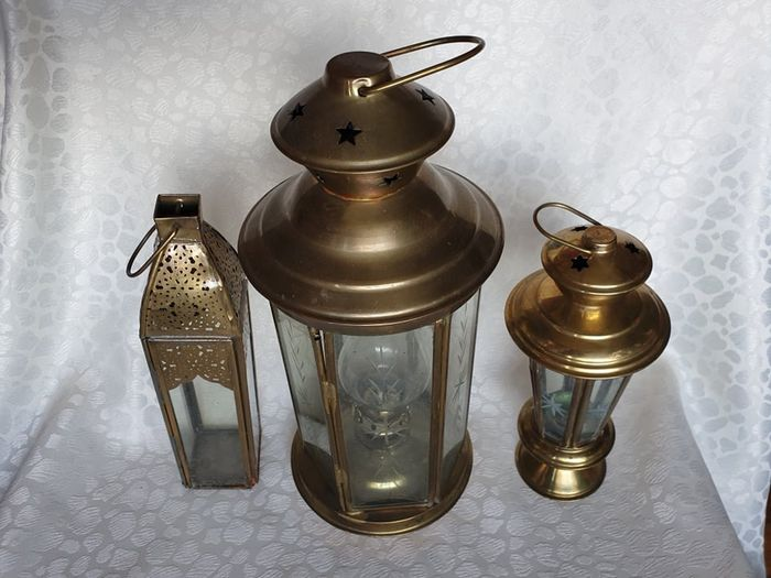 French crafts - Lamp (3) - Neoclassical - Brass, Glass