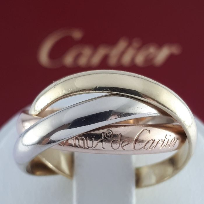 Cartier - 18 kt. Pink gold, White gold, Yellow gold - Trinity Ring