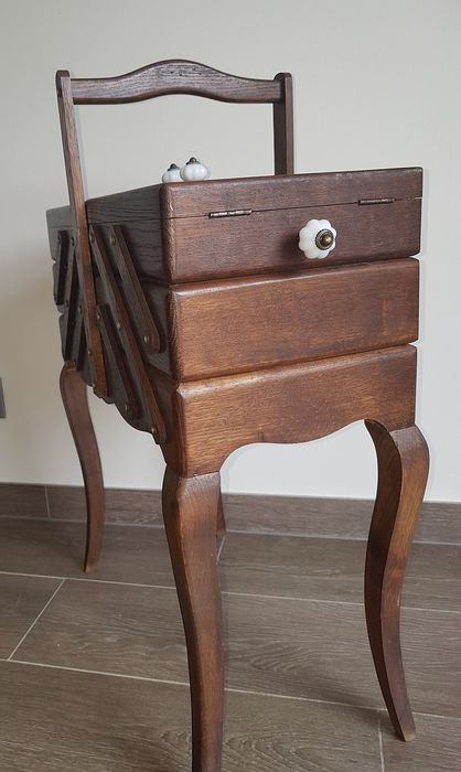 Wooden sewing box three drawers - Wood- Maple