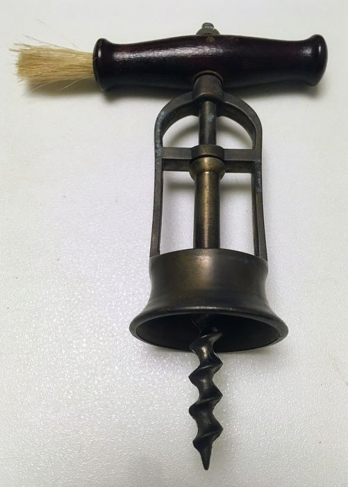 Corkscrew (1) - Brass, Iron (cast/wrought), Wood-Cedar