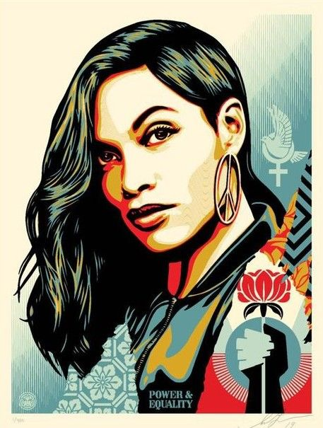 Shepard Fairey (OBEY) - Power & Equality (Flower)