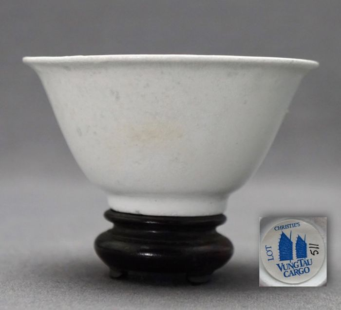 Cup - Monochrome - Porcelain - Vung Tao Christie's lot 511 - Mint condition  - China - Kangxi (1662-1722)