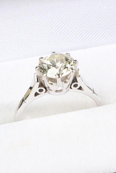 14 karaat Witgoud - Ring - 1.87 ct Diamant