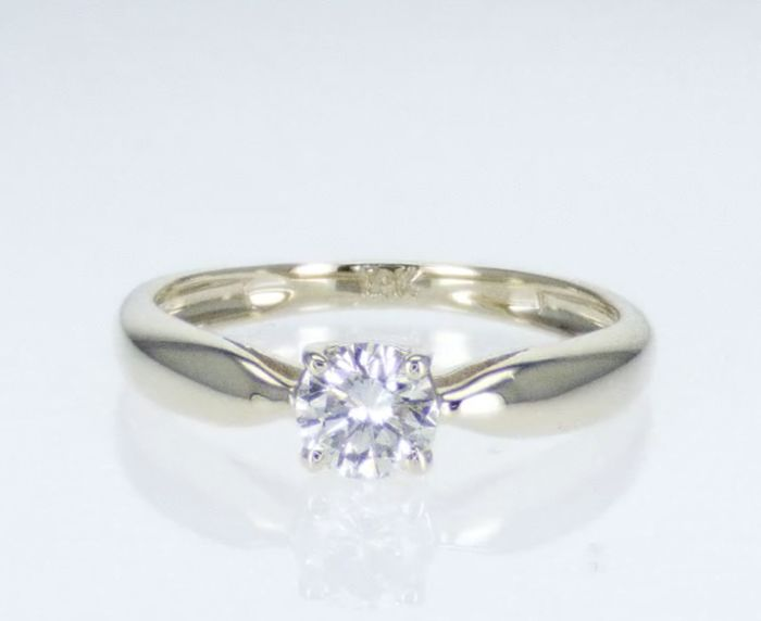 14 kt. Gold - Ring - Clarity enhanced 0.51 ct Diamond