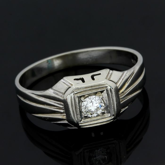 18 quilates Oro blanco - Anillo - 0.20 ct Diamante