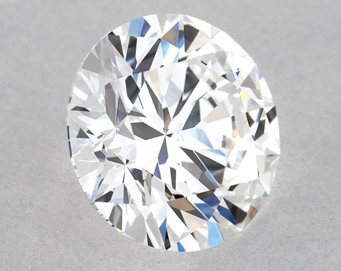 Diamante - 0.63 ct - Brillante, Redondo - D (incoloro),  3x Excellent - SI1, Free Shipping