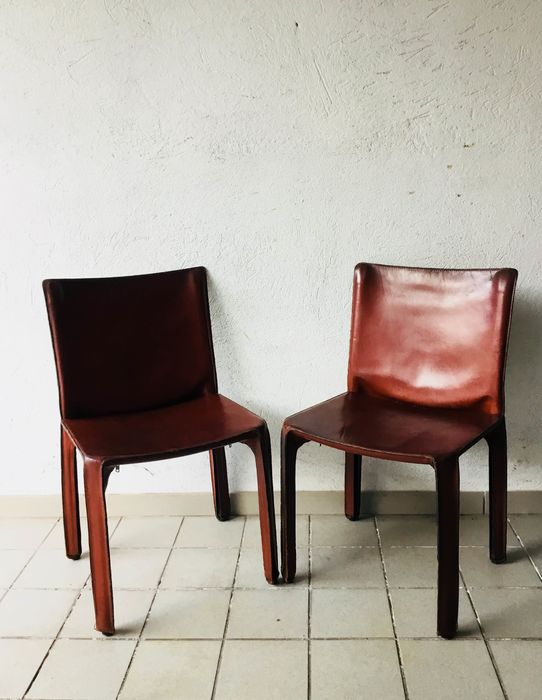Magnificent Mario Bellini Cassina Pair Of Chairs Cab 412 Catawiki Ocoug Best Dining Table And Chair Ideas Images Ocougorg