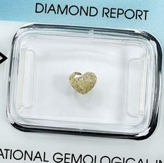 Diamant - 0.50 ct - Hjärta - W-X,Light Brown - Si1 - NO RESERVE PRICE