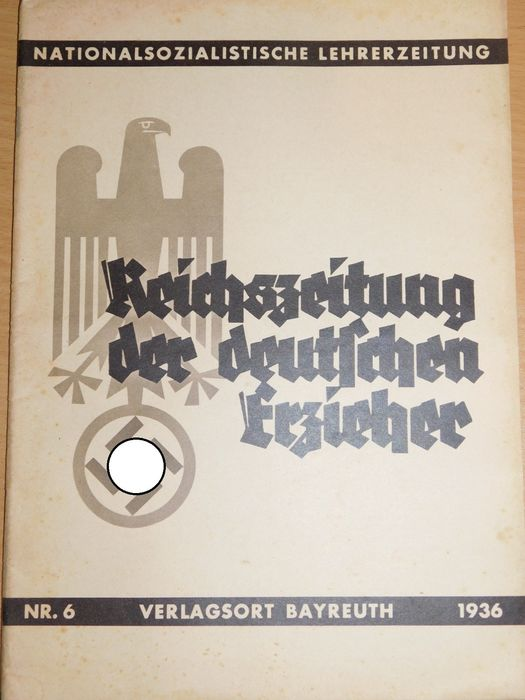 "Germany - 3 rich - Rarely: 2x ""Reichszeitung the German educator"" NSLB - 1938"