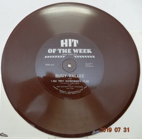 Rudy Vallee, Erno Rapee, Phil Spitalny, Sam Lanin, Vincent Lopez a.o. - 18 Hits of the week records 78RPM. 10 inch (25cm). - 78 rpm - Records shellac