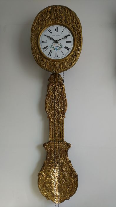 Wandklok model Comtoise - Brass, Bronze - Second half 20th century