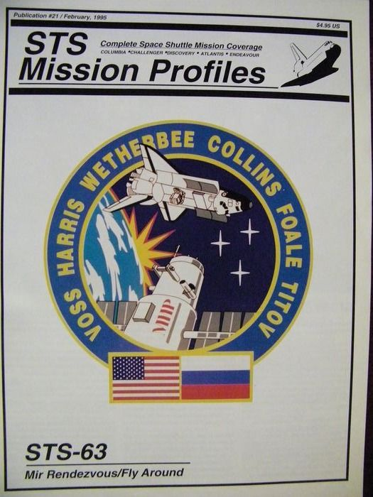 Press Kit from NASA and six photos of space shuttle flight STS-63 (1993) - Kodak photo paper and paper