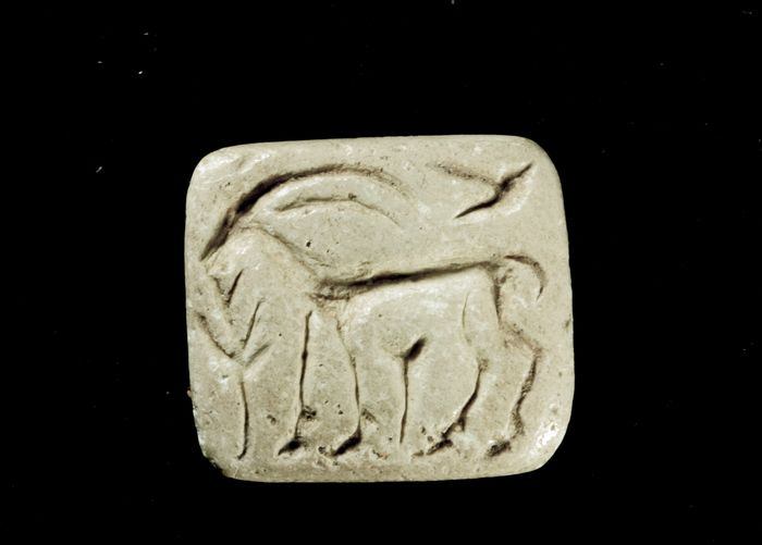 Prehistoric, Chalcolithic Bone Stamp seal / seal gable - 12×22×25 mm - (1)