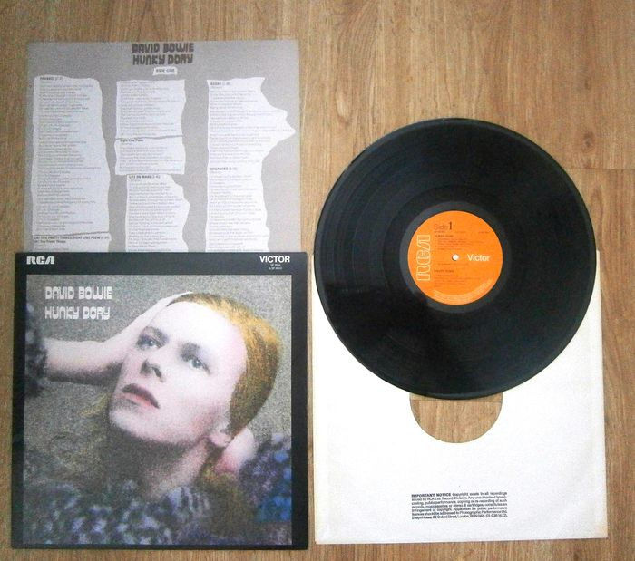 David Bowie - A The very Early UK press (NO STEREO on Label !) David Bowie Hunky Dory  In Near Mint Condition - album LP - 1972/1972