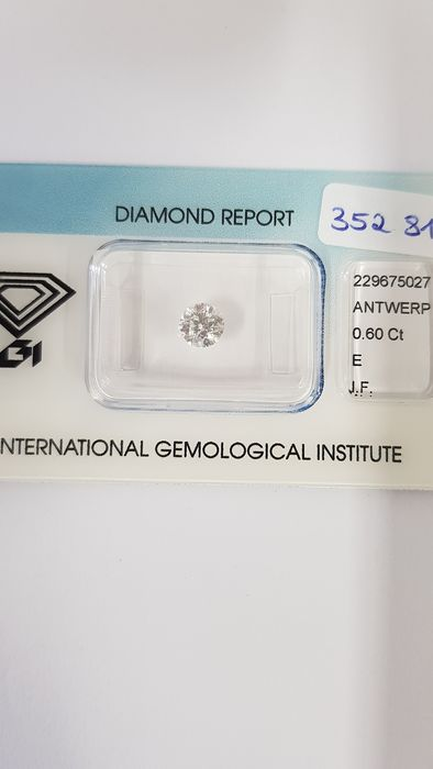 1 pcs Diamond - 0.60 ct - Brilliant - E - IF (flawless)