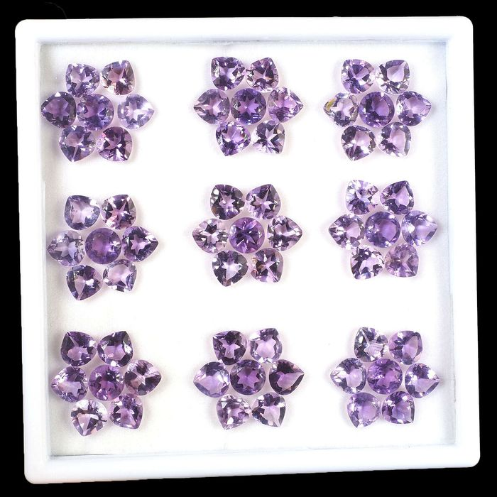 63 pcs  Amethyst - 70.00 ct