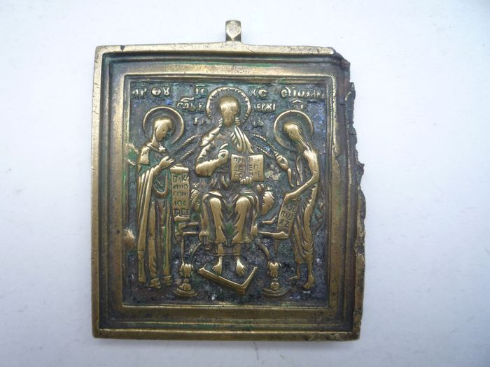 Bronze tavel icon Christ the Almighty Enthroned  - Bronze