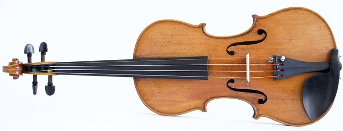 old violin labeled Leandro Bisiach - 4/4 - Violin - Italy - 1897 - Catawiki