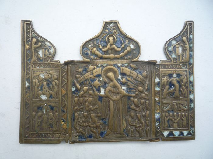 Triptych, Our Lady of Joy to all Sufferers  - Bronze