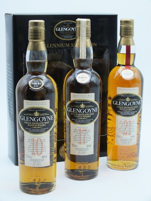 Glengoyne Millennium Selection 21 years - 17 years - 10 years old - 70cl - 3 bottles