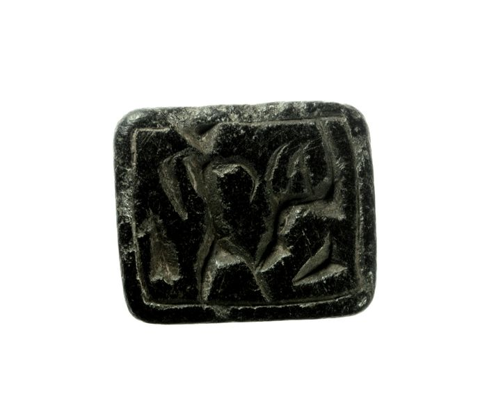 Prehistoric, Bronze Age steatite stamp seal - 24×24×28 mm - (1)