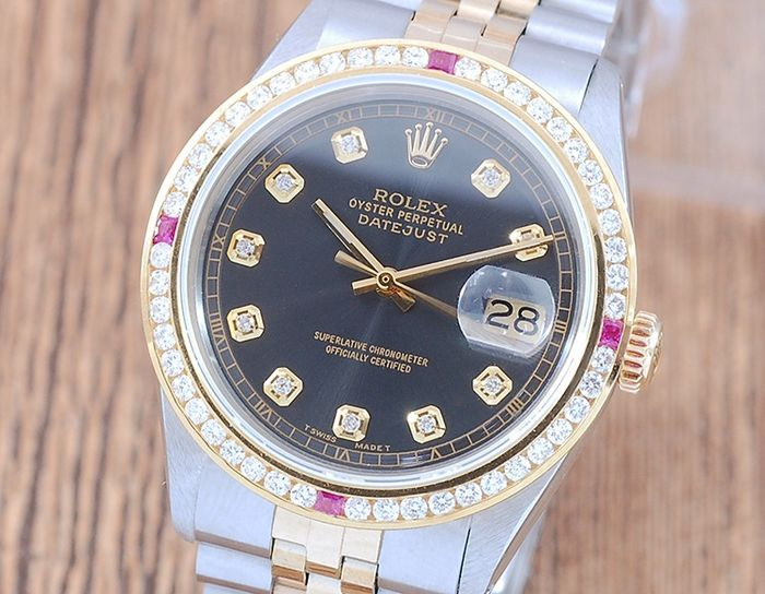 Rolex - Oyster Perpetual DateJust  - 1601 - Homme - 1980-1989