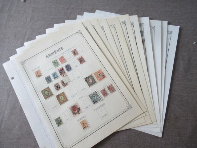 Armenia 1919/1923 - Advanced collection of stamps