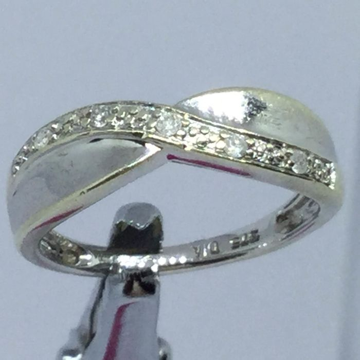 White gold - Ring - 0.10 ct Diamond