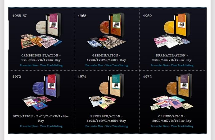 """Pink Floyd - """"The early years 1965-1972"""" - Multiple titles - Deluxe edition, Limited edition, Postcard, 6 x Boxset - 2017/1965"""
