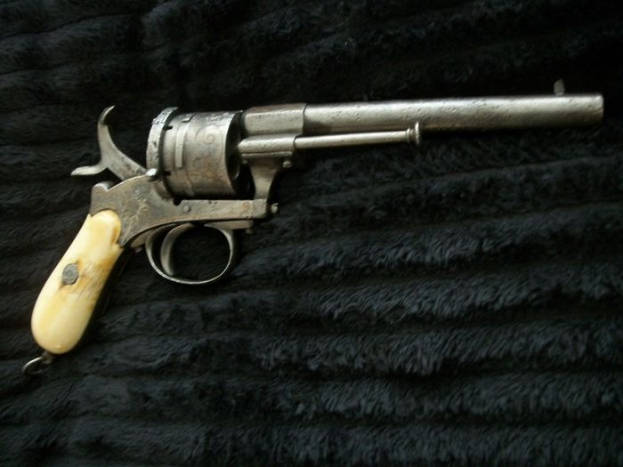 Belgium - ELG - Double action (DA) - Pinfire (Lefaucheux) - Revolver - 12mm cal