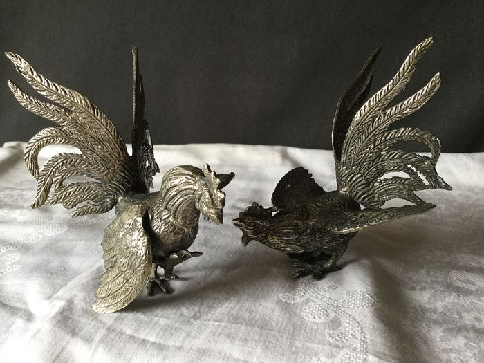 Beautiful detailed silver-plated Ruff - Silverplate - Belgium - mid 20th century
