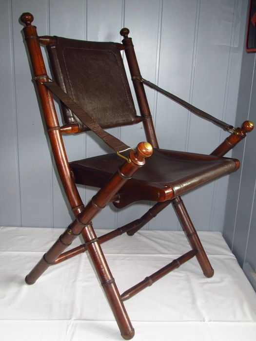 English folding officer chair