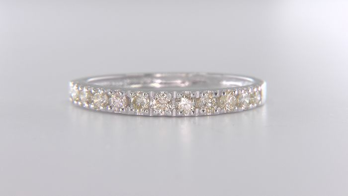 No Reserve Price!  - 14 kt. White gold - Ring - Natural (untreated) 0.45 ct Diamond
