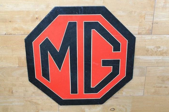 广告牌 - MG - Large MG Morris Garages Advertising Sign Wooden Plaque - 1998