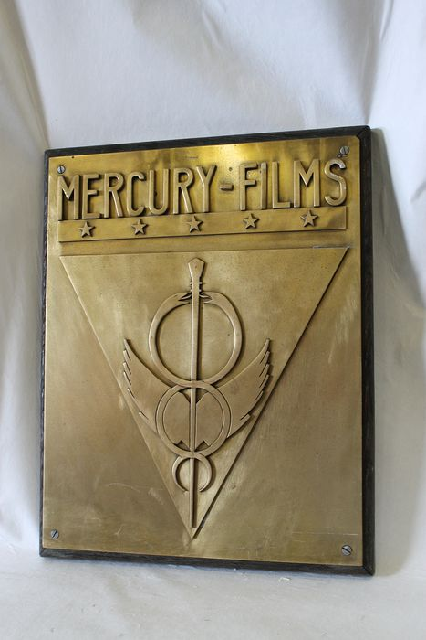 heavy bronze plaque MERCURY FILMS - Bronze
