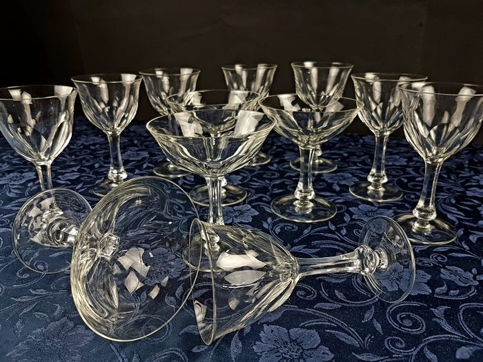 Lady Hamilton By Moser - Service of wine and champagne glasses (12