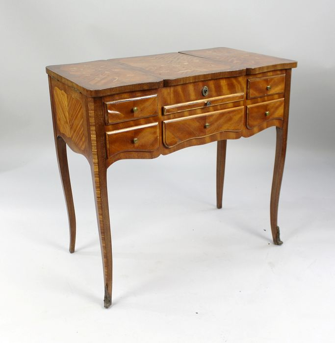 Ladies marquetry dressing table  - Louis XV Style - Kingwood, Satinwood - 20th century