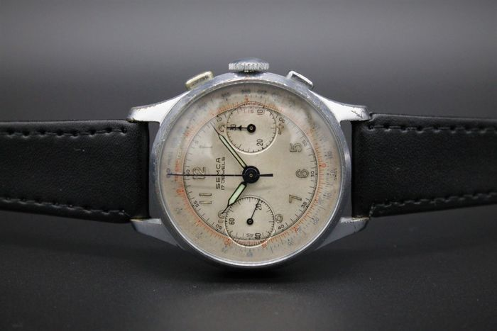 "Semca - Landeron 51 Chronograaf - ""NO RESERVE PRICE"" - Men - 1901-1949"