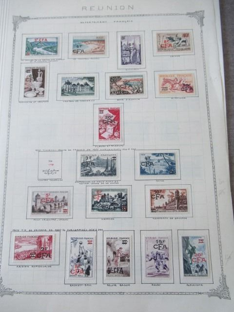 Old French colonies - Advanced collection of stamps, Reunion including CFA