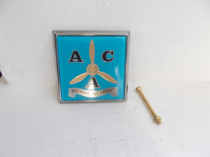 Badge - Vintage RAF air crew association car grille badge with fixings   - 1977-1977
