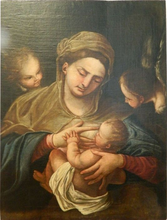 Virgin of milk - Baroque - oil on wood - First half 18th century