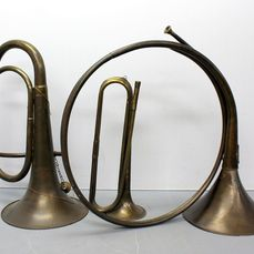 Decorative antique wind instruments (3) - Brass