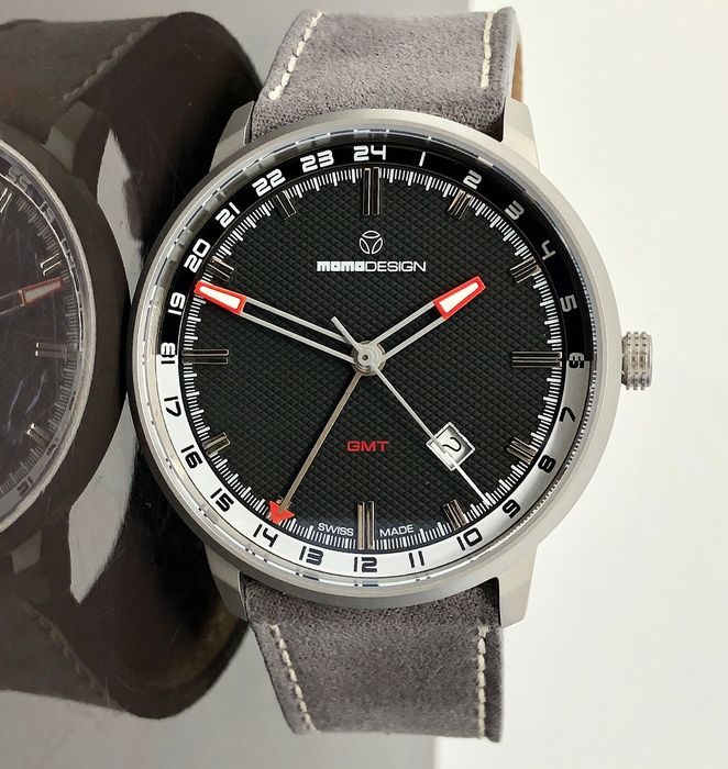 MomoDesign - Watch Essenziale GMT Black Stainless Steel Swiss Made - MD6005SS-12 - Hombre - Brand New