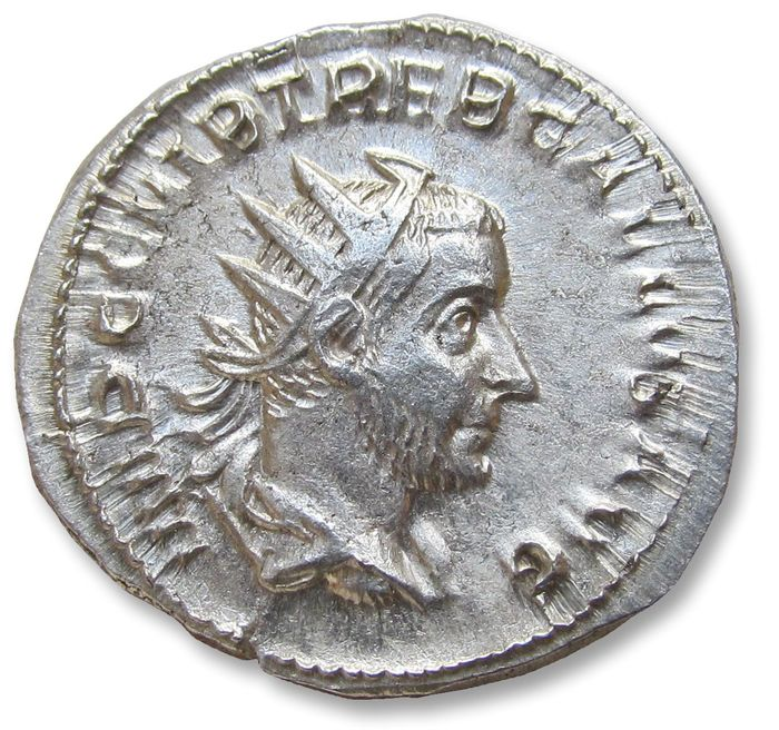 Empire romain - AR antoninianus, Trebonianus Gallus - nearly mint state coin - Rome mint 251-253 A.D. - IVNO MARTIALIS - Argent