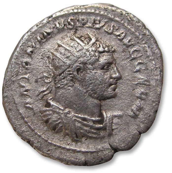 Roman Empire - AR 25mm antoninianus, Caracalla, Rome mint 215-17 A.D. - VENVS VICTRIX - - Silver