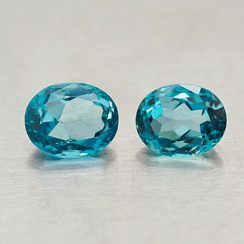 2 pcs London Blue Topaz - 10.78 ct