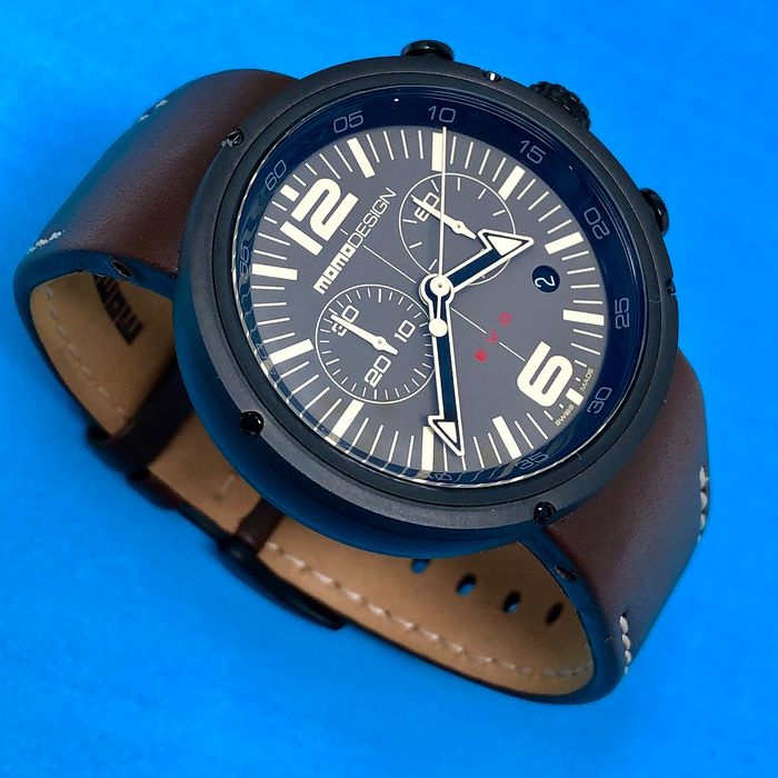 "MomoDesign - Chronograph Watch EVO Brown Dial Swiss Made - MD1012BR-32 ""NO RESERVE PRICE"" - Herren - Brand new"