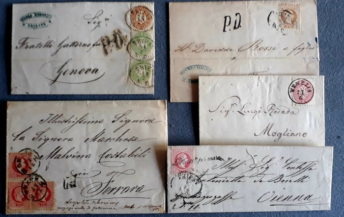 Austria 1863/1867 - Empire - lot with 5 letters